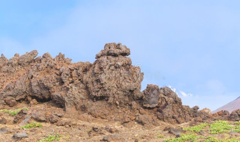 Den stelnade lavan royaltyfri bild