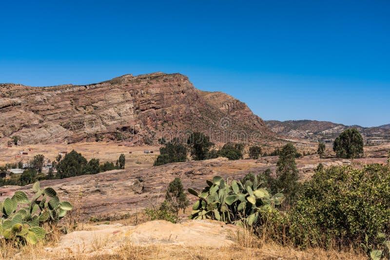 Den steniga kyrkan av Wukro Cherkos i Etiopien royaltyfria bilder