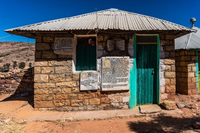 Den steniga kyrkan av Wukro Cherkos i Etiopien arkivbild