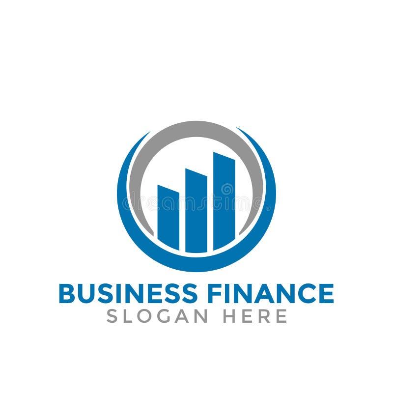 Den stigande symbolen för logoen för stångaffärsfinans konsulterande planlägger vektor illustrationer