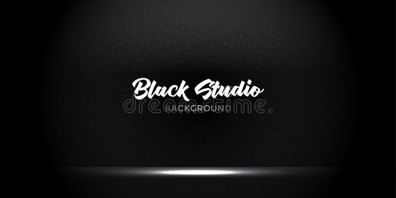 Den stilfulla svarta lutningstudion ställer ut hyr rum bakgrund med mörker, och ljus på väggtexturabstrakt begrepp, tomt utrymme, arkivbilder