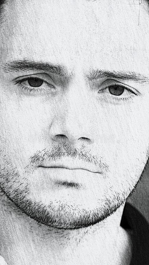 Den stiliga mannen skissar royaltyfria foton