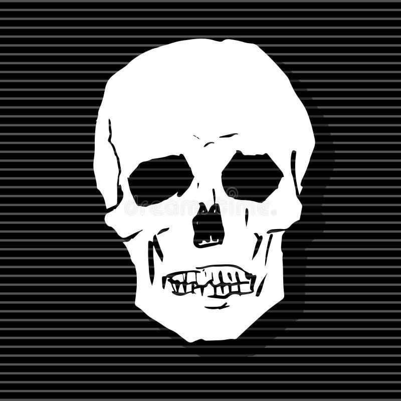 Den stiliserade mänskliga skallen stock illustrationer