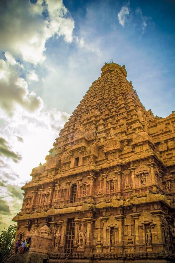 Den stora Brihadeeswara templet av Tanjore fotografering för bildbyråer