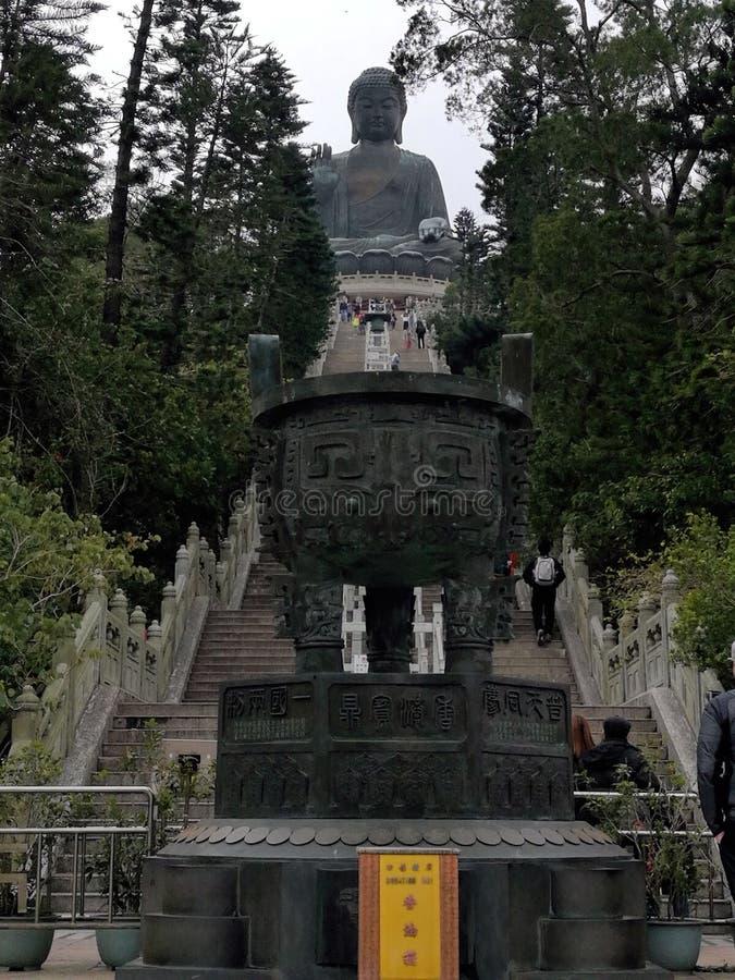 Den stora Buddha Hong Kong royaltyfria bilder