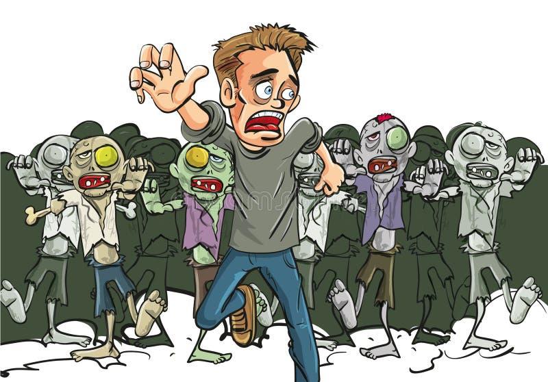 Grunda en överlevande av Zombieapokalypset stock illustrationer