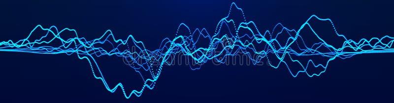 den stora grafmarknaden numrerar materielet Stor datavisualization investeringgrafbegrepp framf?rande 3d vektor illustrationer