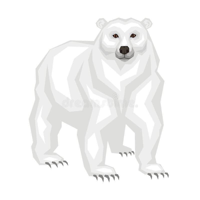 Den stora isbjörnen royaltyfri illustrationer