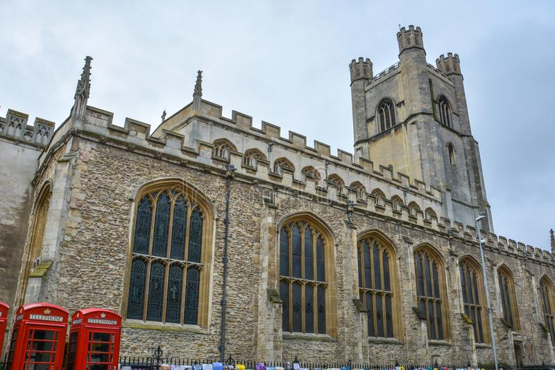 Den stora kyrkan för St Marys i Cambridge royaltyfri foto