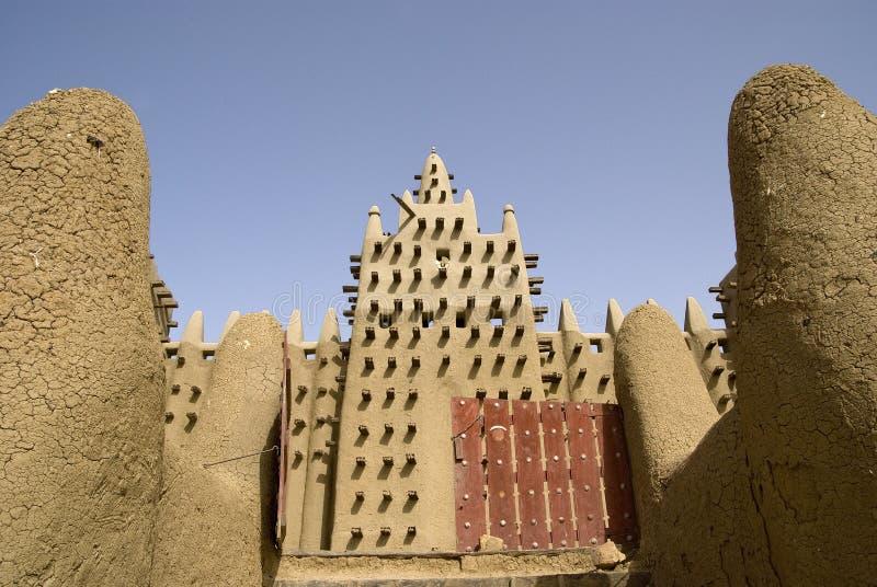 Den stora moskén av Djenne. Mali. Afrika royaltyfria foton