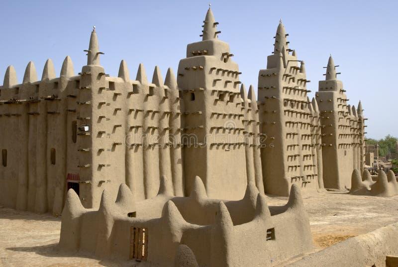 Den stora moskén av Djenne. Mali. Afrika arkivbilder