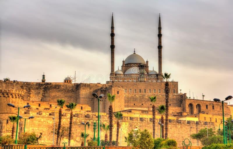 Den stora moskén av Muhammad Ali Pasha i Kairo arkivbild