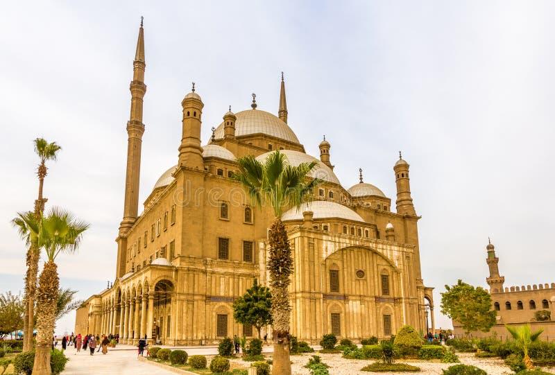 Den stora moskén av Muhammad Ali Pasha i Kairo arkivfoton
