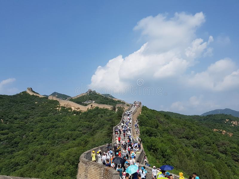 Den stora muren i Peking, Kina royaltyfri bild