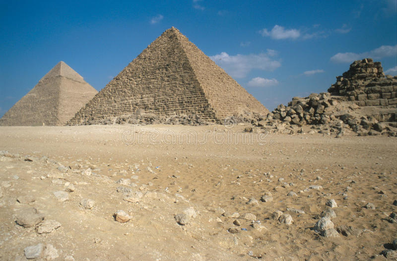 Den stora pyramiden av Giza fotografering för bildbyråer