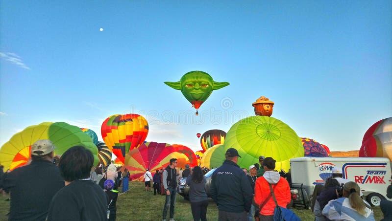 2018 den stora Reno Balloon Race arkivbild