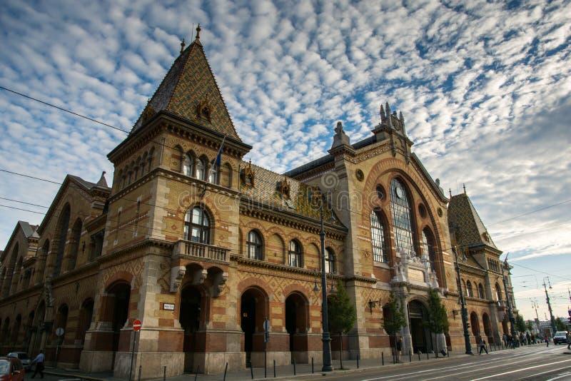Den stora saluhallen i Budapest, Ungern Foto som tas på den 3rd nollan arkivfoton
