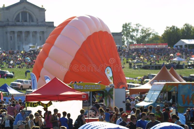 Den stora Sten Louis Balloon Race 2018 arkivbilder