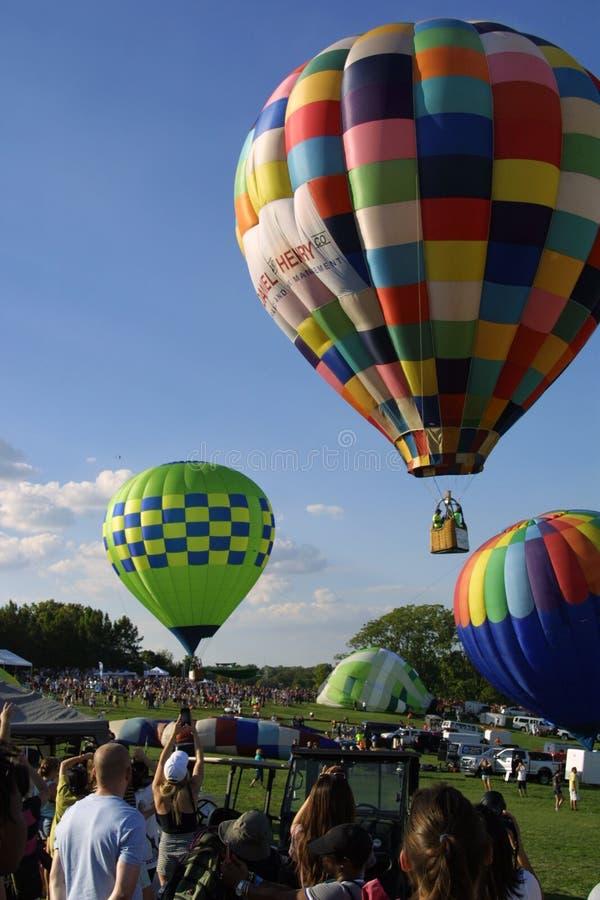 Den stora Sten Louis Balloon Race 2018 royaltyfria foton