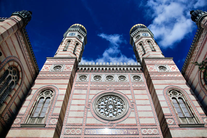 Den stora synagogan. Budapest Ungern royaltyfria foton