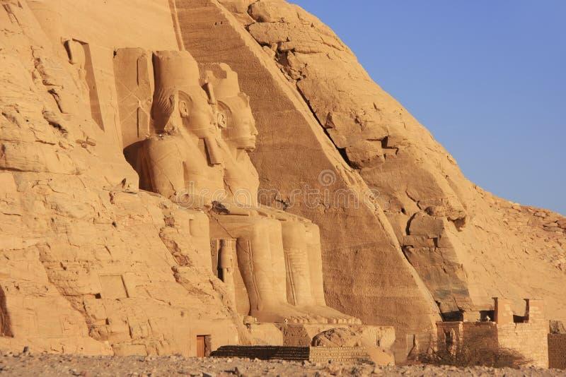 Den stora templet av Abu Simbel, Nubia royaltyfria foton