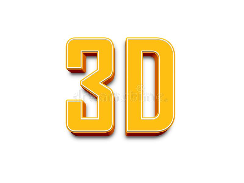 Den stora tredimensionella logoen på en vit isolerade matte bakgrund vektor illustrationer