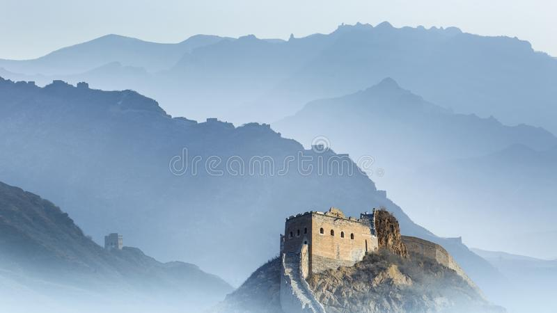 Den stora väggen av Kina royaltyfri bild
