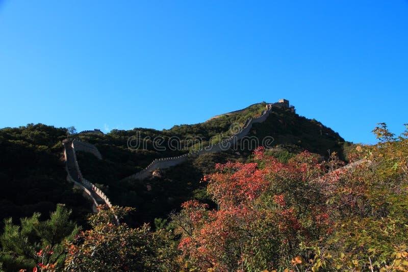 Download Den stora väggen av Kina fotografering för bildbyråer. Bild av liggande - 78731015