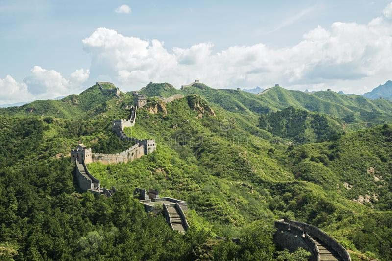 Den stora väggen av Kina, asia royaltyfri foto