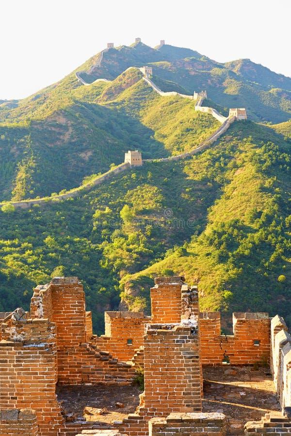 Den stora väggen, Peking arkivbild