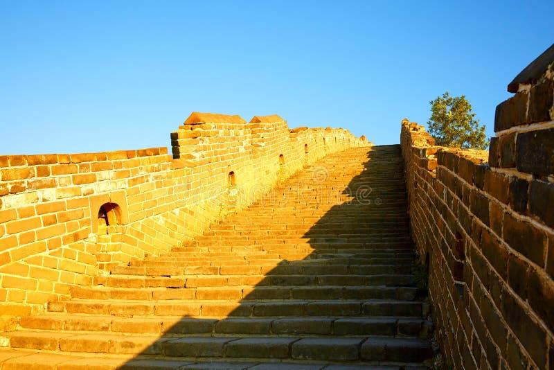 Den stora väggen, Peking royaltyfri bild
