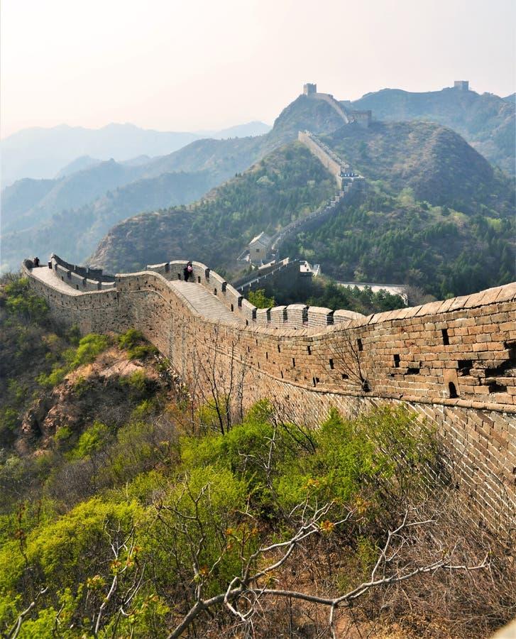Den stora v?ggen av Kina arkivfoton