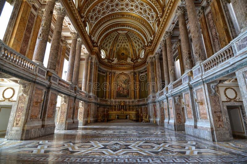 Den storartade Royal Palace av Caserta, dess inre royaltyfri bild