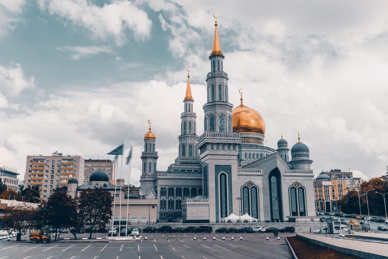 Den storslagna domkyrkamoskén i Moskva arkivfoton