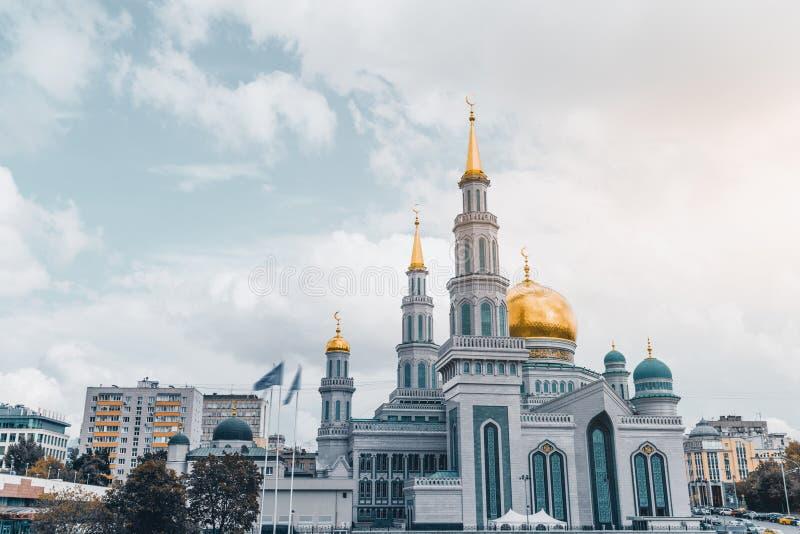Den storslagna domkyrkamoskén i Moskva fotografering för bildbyråer