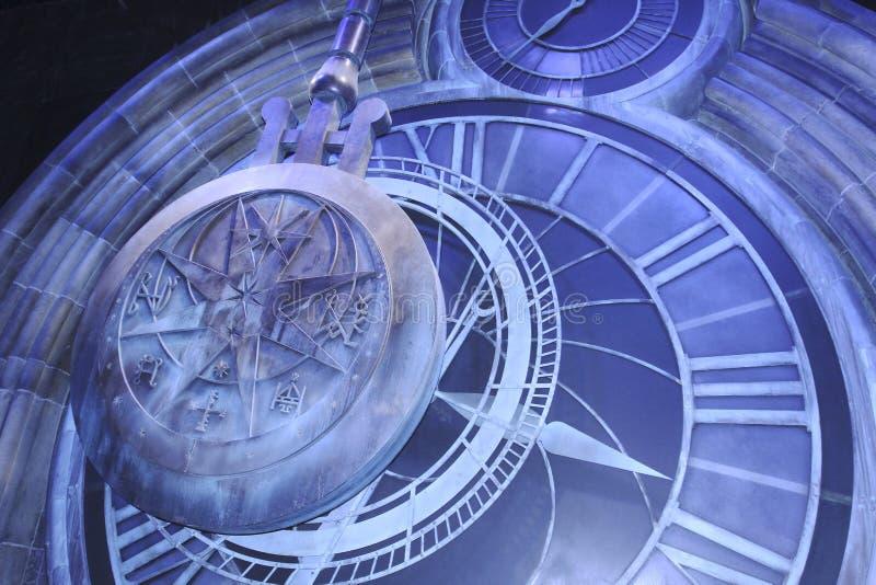 Den storslagna klockan på Hogwarts arkivbild