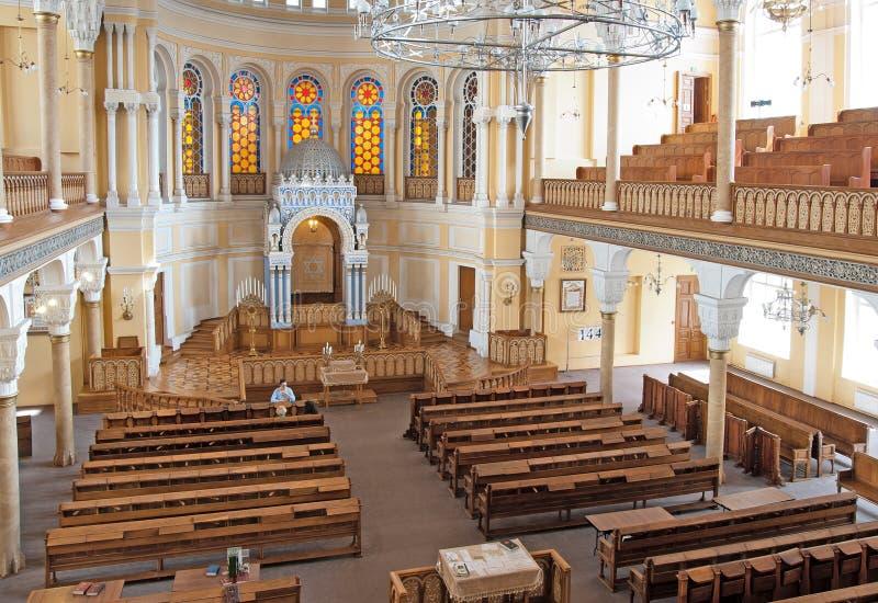 Den storslagna kor- synagogan av St Petersburg Ryssland arkivfoton