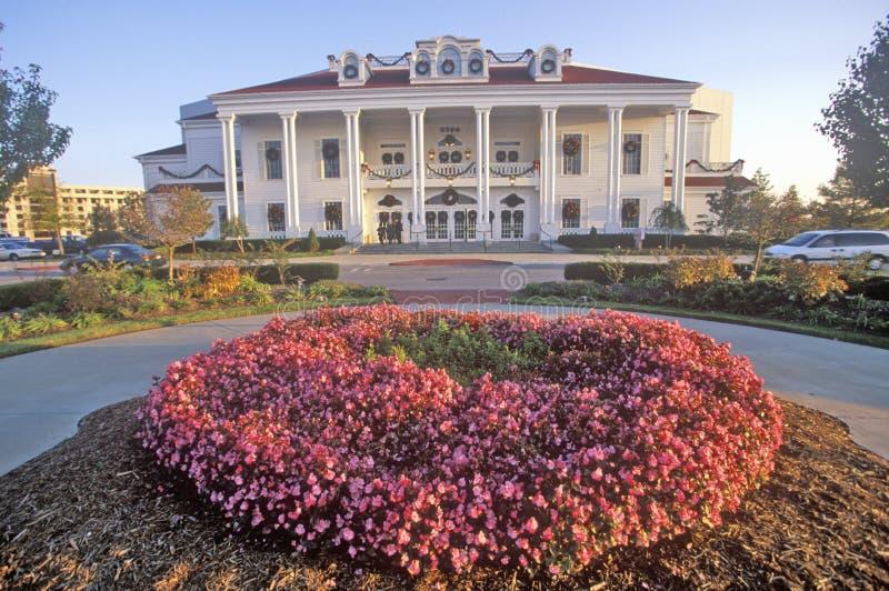 Den storslagna slotten, Ozark Mountain Entertainment Center, Branson, MO arkivfoton