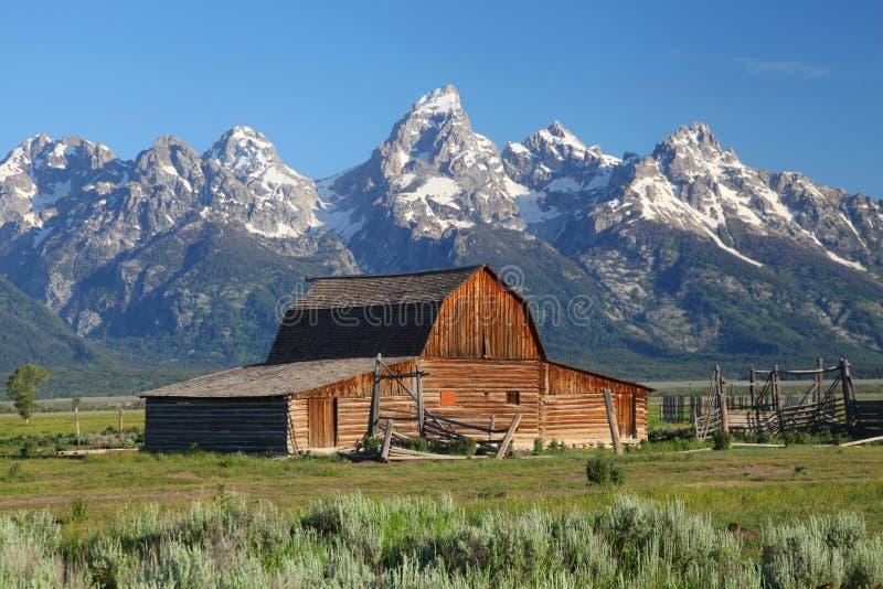 Den storslagna Tetonsen i Wyoming royaltyfri fotografi