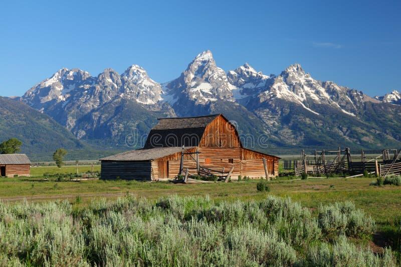 Den storslagna Tetonsen i Wyoming arkivbild