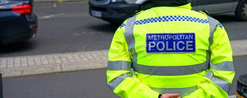 Den storstads- polisen royaltyfri bild