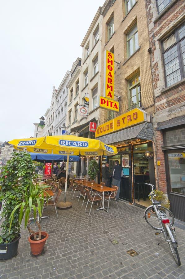 An den Straßen von Antwerpen lizenzfreies stockbild