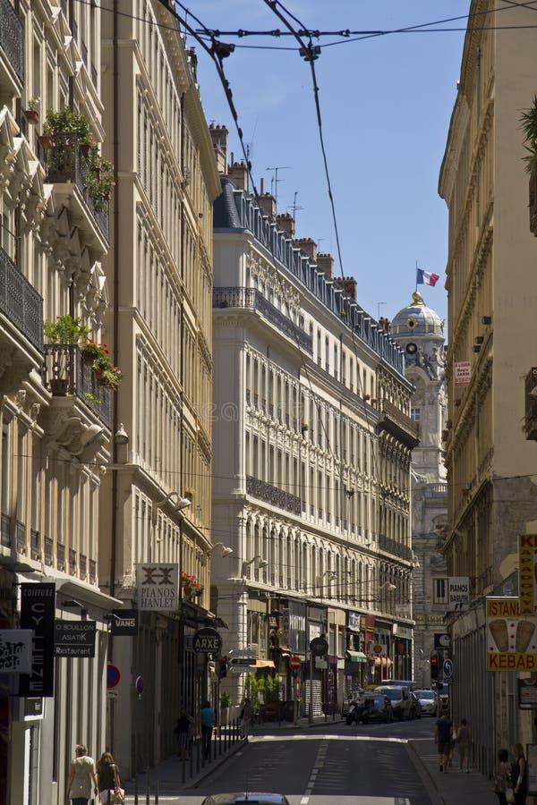 In den Straßen von Lyon lizenzfreies stockfoto
