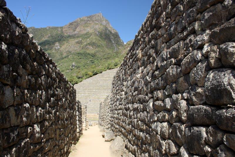 In den Straßen von Machu Picchu stockfoto
