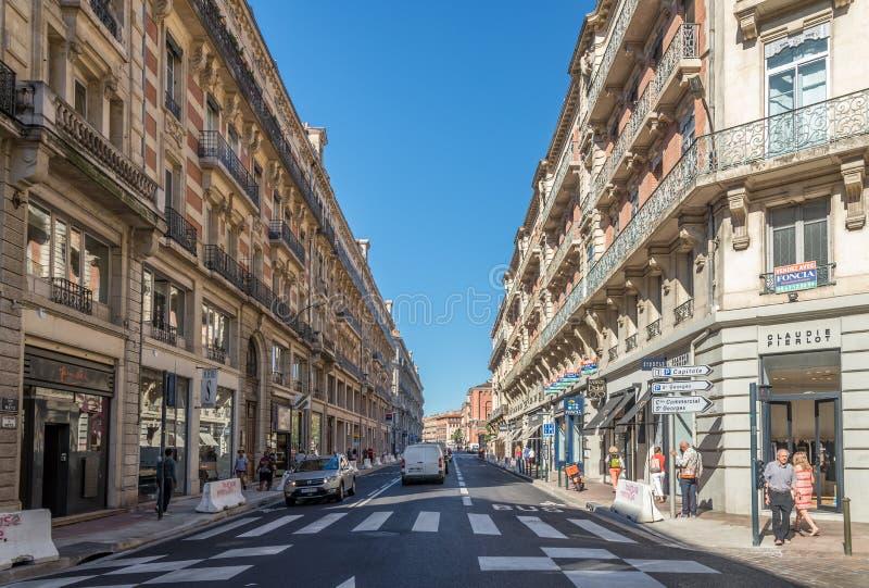 In den Straßen von Toulouse stockfoto