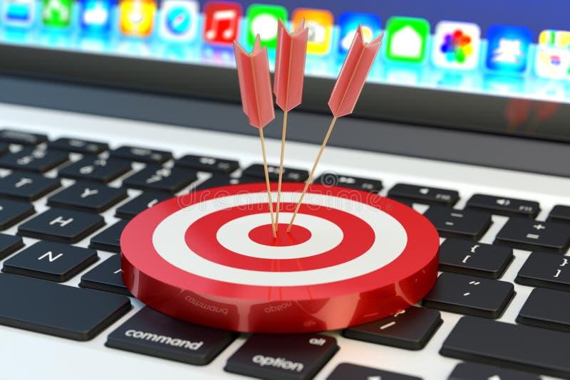 Den strategiska affärslösningen och marknadsföringsstrategi ämnar begrepp vektor illustrationer