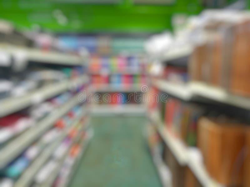 Den suddiga bilden av shoppar arkivbild