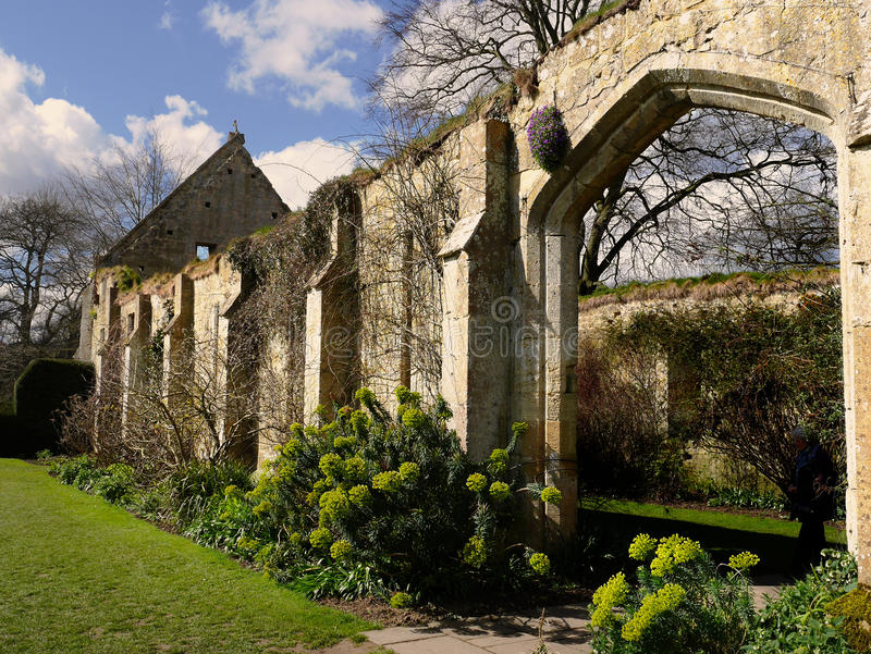 Den Sudeley för tiondeladugård slotten Winchcombe Cotswolds arkivfoton