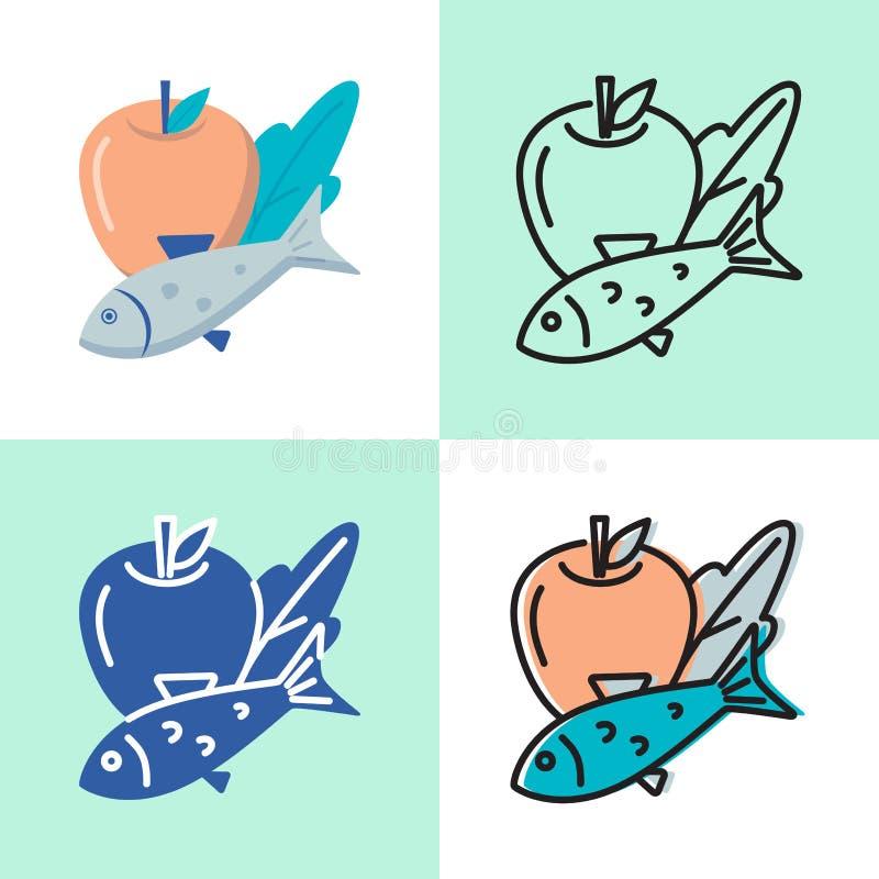 Den sunda matsymbolen st stock illustrationer