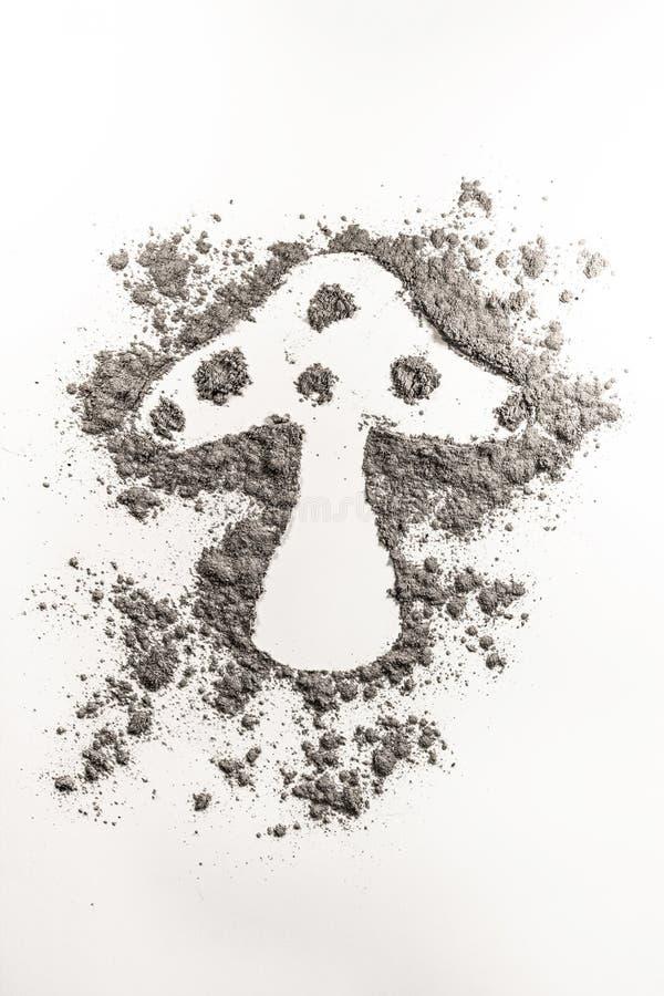 Den svamp formteckningen i en hög av grå färger dammar av, sandpapprar stock illustrationer